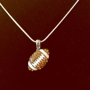Jewelry - FOOTBALL 🏈 PENDANT & NECKLACE STERLING SILVER NWT